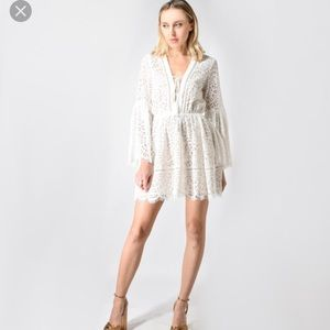 We are Kindred White Lace Dress